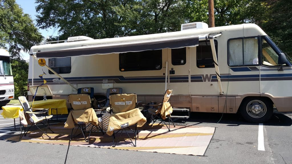 Starter RV and basic tailgating setup