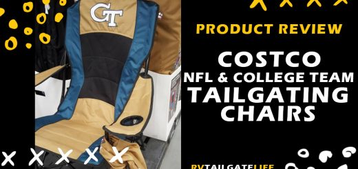 RV Tailgating product review - Costco NFL and College Team Tailgating Chairs