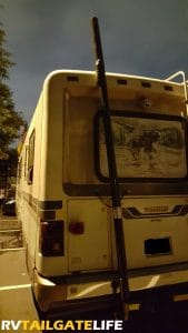 Genturi Generator Exhaust on back of RV