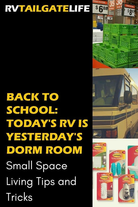 Back to School: RV living lessons from dorm rooms and other small spaces.