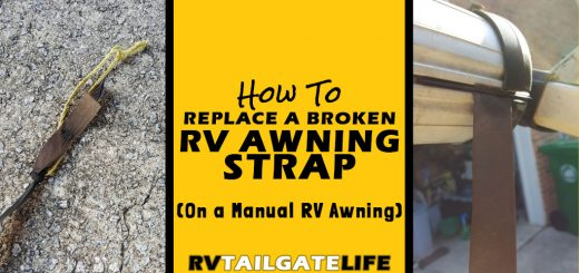 How to Replace a Broken RV Awning Strap on a manual RV awning