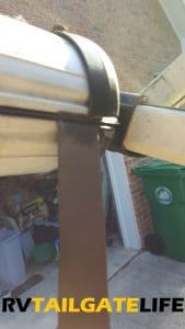 Slide out, slide in - easy fix for a broken awning strap