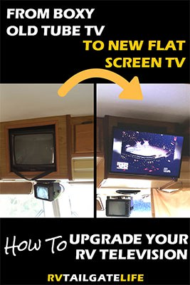 How to Upgrade Your RV TV from the old tube TV to a new digital flat screen TV
