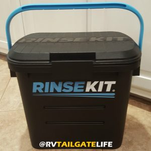 RinseKit: portable shower for RVing and tailgating