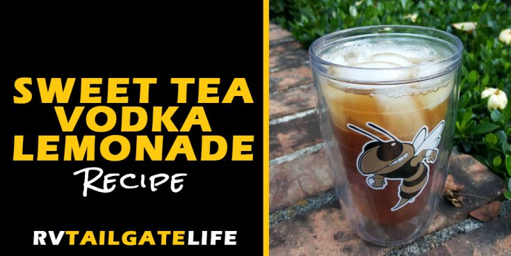 Easy Sweet Tea Vodka Lemonades