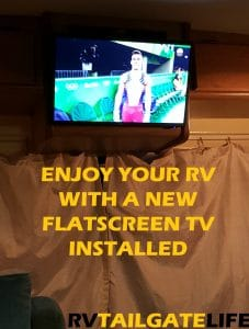 A new digital flatscreen tv is installed in the RV and ready for football season! Another RVMod in the books.
