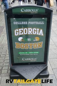 "Yes, Carrolls Gift Store really did print ""Georgia vs Boston"" shirts - 4,000 in all."