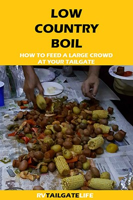 Low Country Boil perfect for large tailgate meals