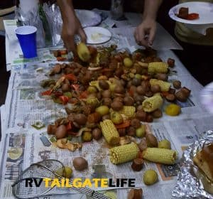 Low Country Boil after the GT Win