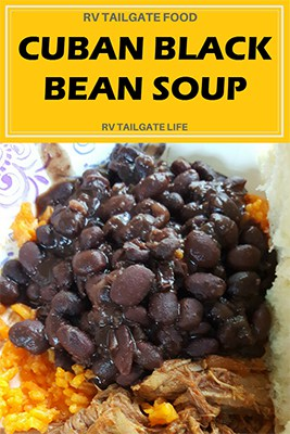 Cuban Black Bean Soup Pin - Get the Recipe for this traditional style side dish