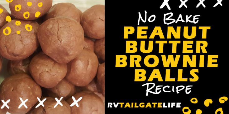 No-Bake Peanut Butter Brownie Balls