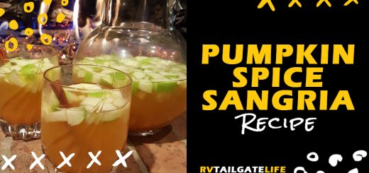 Get the recipe for Pumpkin Spice Sangria - the perfect fall football tailgating sangria recipe