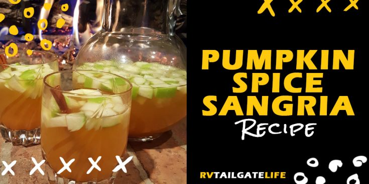 Pumpkin Spice Sangria is Fall in a Cup