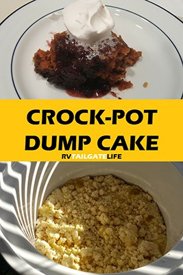 Crock Pot Dump Cake Recipe from RV Tailgate Life