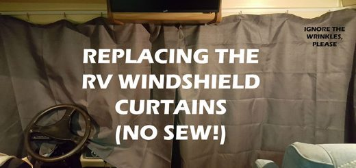 Replace the front windshield curtains in your RV with this easy no sew RV windshield curtain upgrade