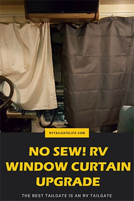 No Sew RV Window Blackout Curtains