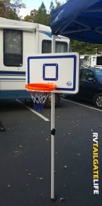 The VersaHoop Tailgating Basketball Goal in action!