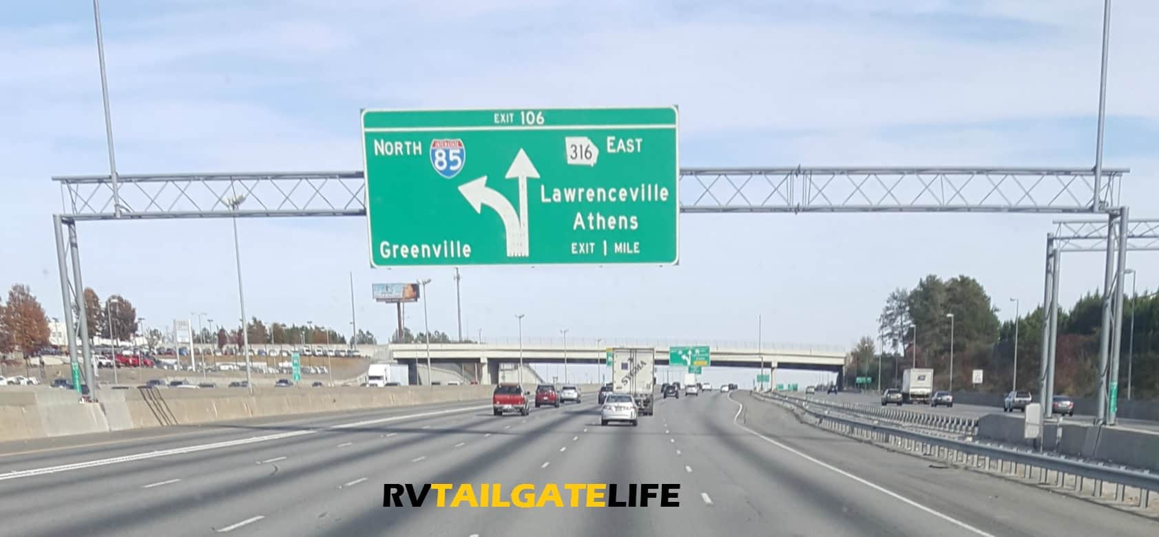 "GA Highway 316 is otherwise known as the ""Highway to Hell"" to Georgia Tech fans"