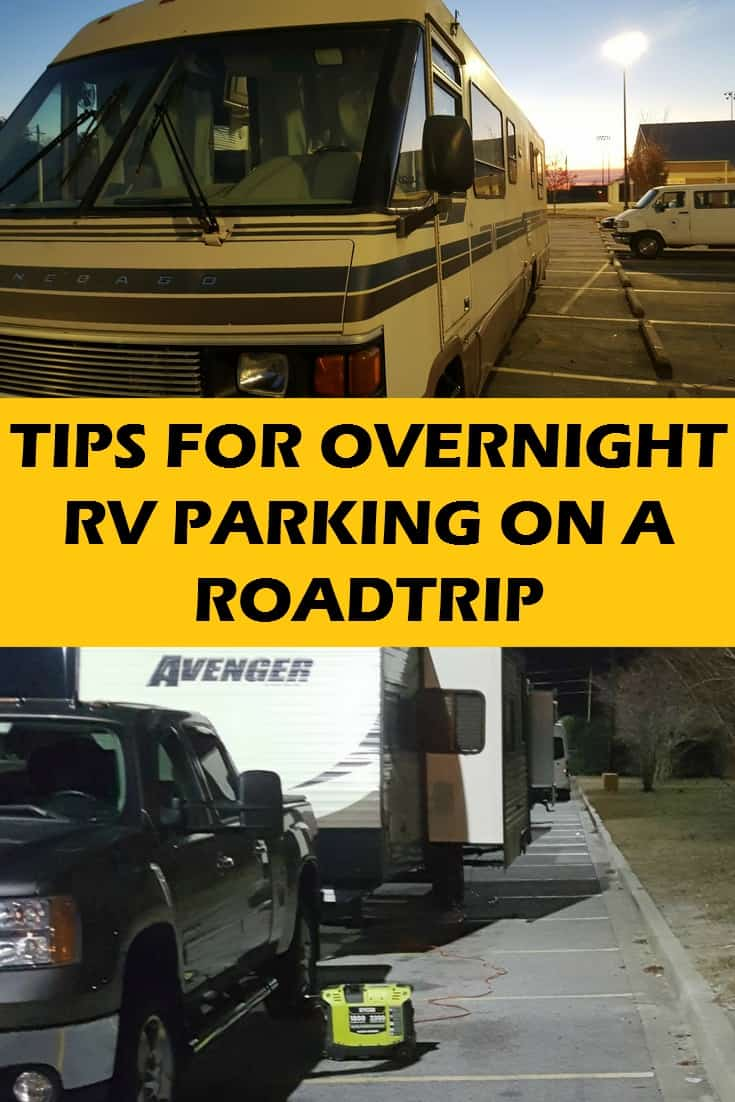 Tips for Overnight RV parking on your next road trip!