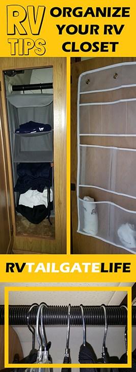 RV Tips - Organize Your RV Closet with these 9 easy RV Closet Organization Hacks