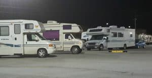 Overnight RV parking for the night at Wal-Mart near I-95 in South Carolina
