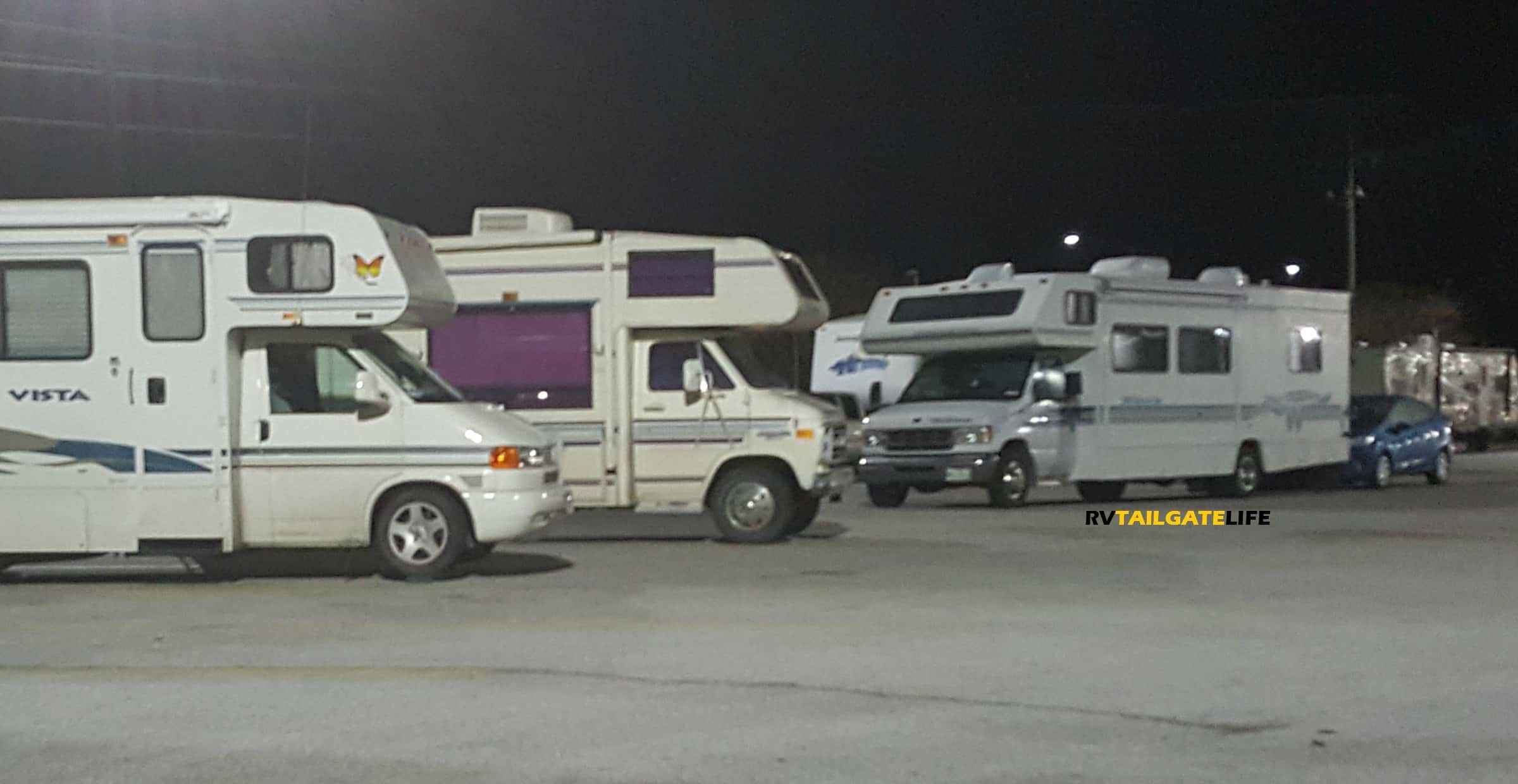 tips for overnight rv parking on a roadtrip rv tailgate life