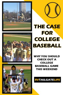 College baseball is a lot cheaper than major league baseball! And often more fun!