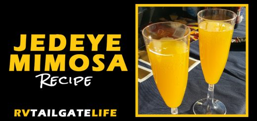 Jedeye Mimosa Recipe - a champagne mimosa perfect for early morning tailgating