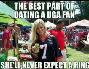 Awww! Bless her heart! No championship rings for the dawgs