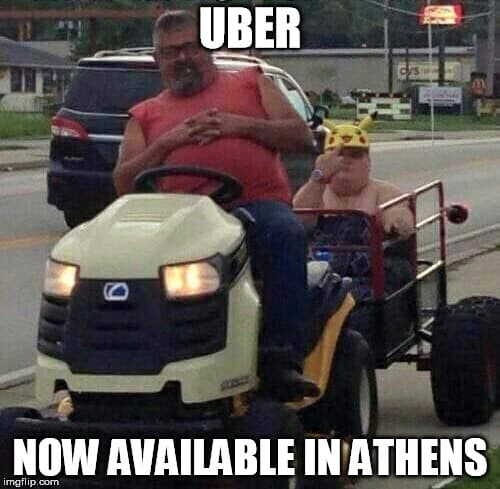 Don't call an Uber in Athens! THWG!!!!