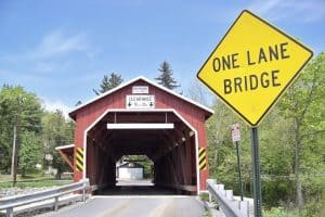 Pay attention to clearance signs on bridges! Your RV will thank us later.