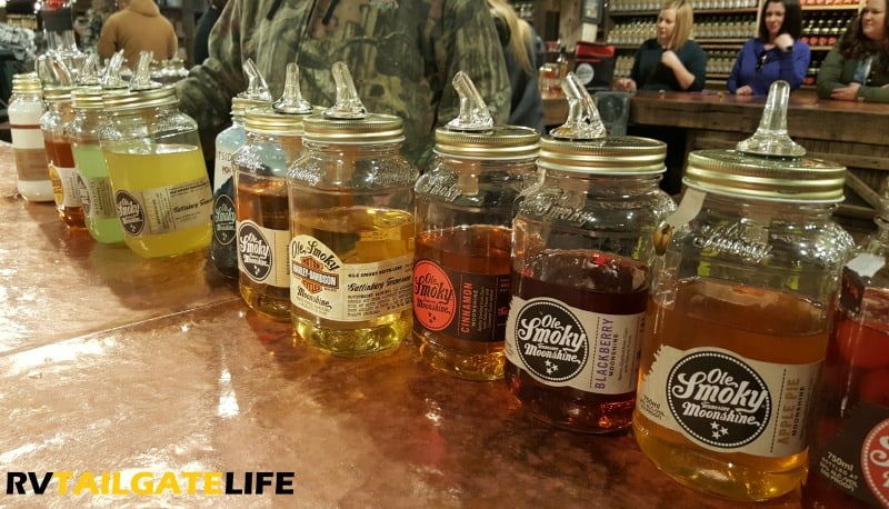 Moonshine tasting at Ole Smoky in Gatlinburg Tennessee