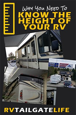 Why You Need to Know the Height of your RV - knowing how tall your RV is can save you from damaging the RV when you go under gas station awnings, low bridges, and through tunnels during RV road trips!