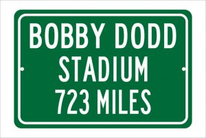 Add a sign from your tailgate to your home stadium