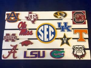 Why show off only one school when you can show off all the conference schools on one sign?