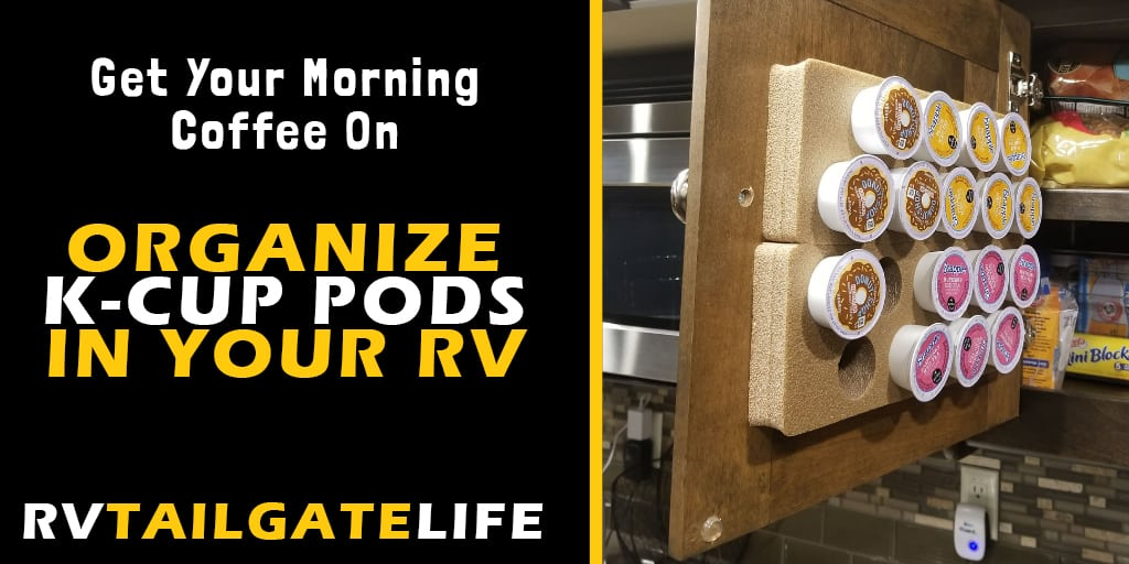 Organize K-Cup Pods in your RV kitchen with this small kitchen friendly storage solution! Don't worry about falling K-Cups from your RV kitchen cabinets no longer