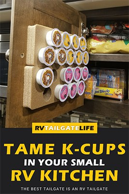 Tame K-Cups in your Small RV Kitchen with K-Cup Cofee Pod Pads