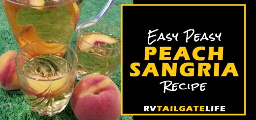 Easy Peasy Peach Sangria Recipe from RV Tailgate Life