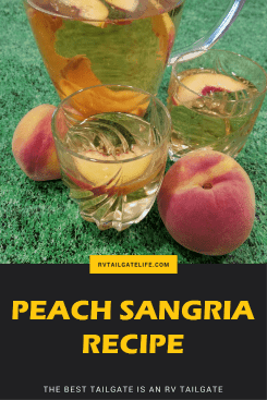 Peach Sangria - Perfect for an early fall tailgate!