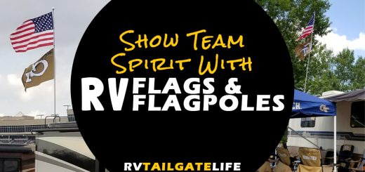 Show your team spirit with RV flags and flag poles