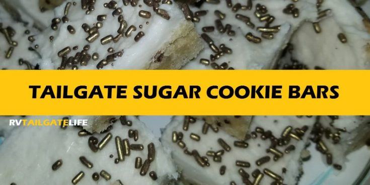 Tailgating Sugar Cookie Bars - Rock Your Team Colors