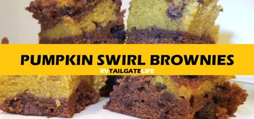 Pumpkin Swirl Brownies are perfect for fall tailgating!