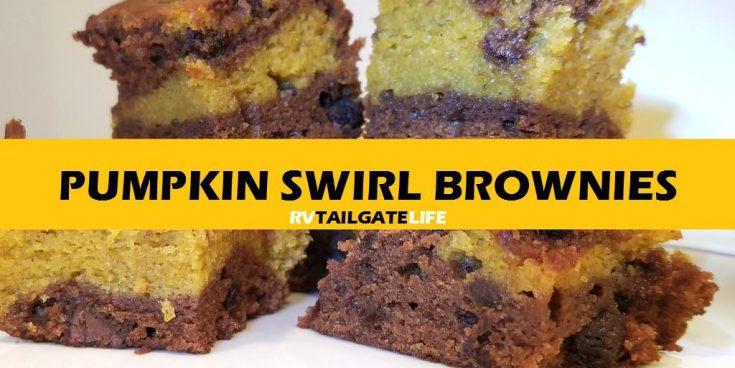 Pumpkin Swirl Brownies Perfect Fall Tailgating Dessert