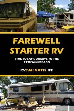 Farewell Starter RV - you were a great first RV!