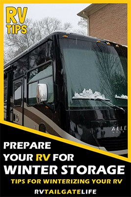 Prepare your RV for Winter Storage with these tips for winterizing your RV