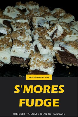 You do not need a camp fire to make this yummy s'mores fudge, so this dessert recipe is great any time of year