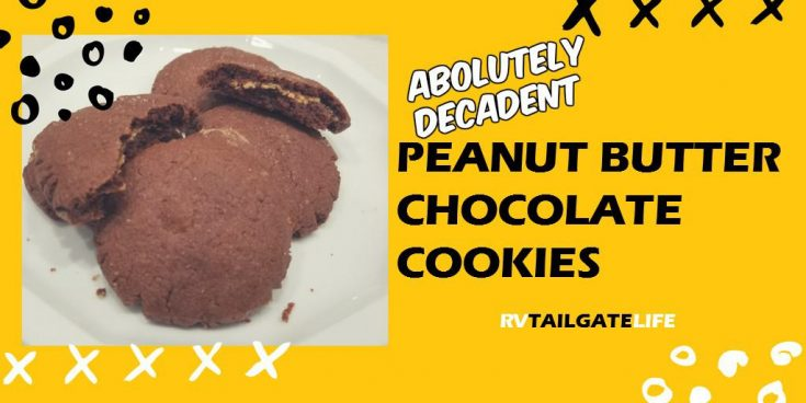 The Most Decadent Peanut Butter Chocolate Cookies