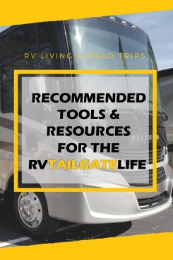 RV life recommended tools and resources by RV Tailgate Life