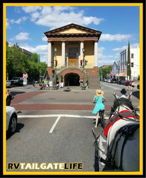 Take a horse drawn carriage tour of downtown Charleston, South Carolina