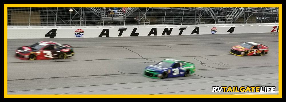 Atlanta Motor Speedway - Turn four on Sunday